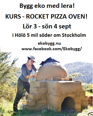 Ekobygg - kurs i att bygga Rocket Pizza Ugn